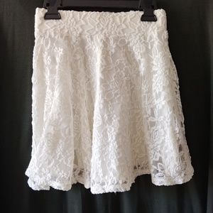 Hollister Ivory Lace Skirt